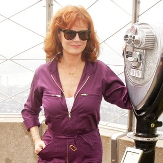 Susan Sarandon Helps Light Up The Empire State Building as Part of Celebrating Only Make Believes