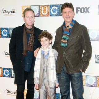 Kiefer Sutherland, David Mazouz, Tim Kring in World Premiere of Touch - Red Carpet