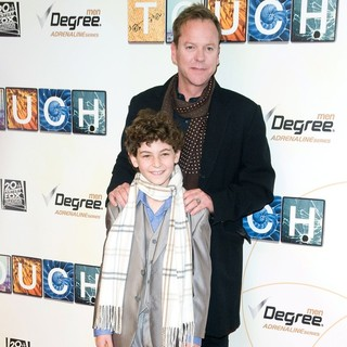Kiefer Sutherland, David Mazouz in World Premiere of Touch - Red Carpet