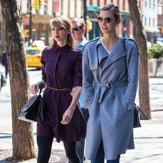 Taylor Swift and Karlie Kloss Out and About in Tribeca