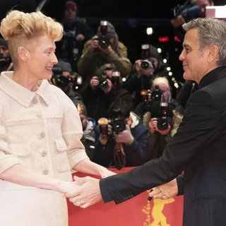 Tilda Swinton, George Clooney in The 66th Annual International Berlin Film Festival - Opening Gala
