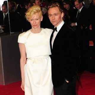 Tilda Swinton, Tom Hiddleston in Orange British Academy Film Awards 2012 - Arrivals