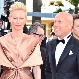 Tilda Swinton, Bruce Willis in Moonrise Kingdom Premiere - During The Opening Ceremony of The 65th Cannes Film Festival