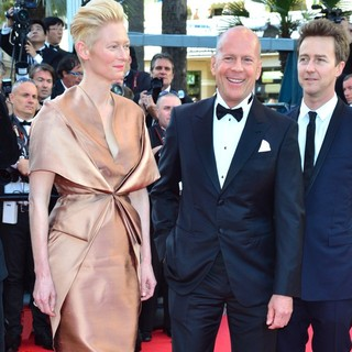 Tilda Swinton, Bruce Willis, Edward Norton in Moonrise Kingdom Premiere - During The Opening Ceremony of The 65th Cannes Film Festival