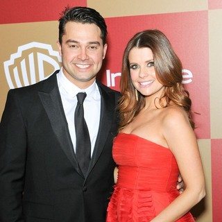Nick Swisher, Joanna Garcia in InStyle and Warner Bros. Golden Globe After Party