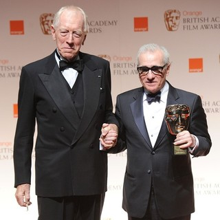 Max von Sydow, Martin Scorsese in Orange British Academy Film Awards 2012 - Press Room