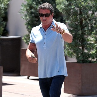 Sylvester Stallone in Sylvester Stallone and Friends After Having Lunch