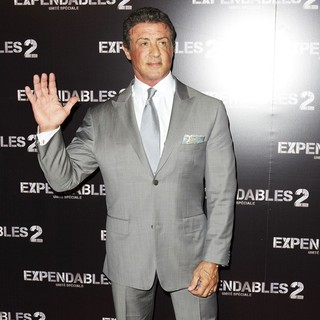 Sylvester Stallone in The Expendables 2 France Premiere