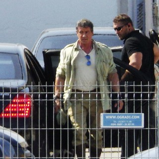 Sylvester Stallone in On The Film Set of The Expendables 3