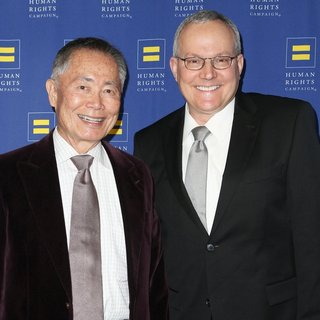George Takei, Brad Altman in HRC Los Angeles Gala Dinner 2015 - Arrivals