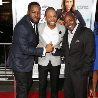 David E. Talbert, Terrence J, William Packer in Baggage Claim Premiere