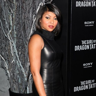 Taraji P. Henson in New York Premiere of The Girl with the Dragon Tattoo - Arrivals
