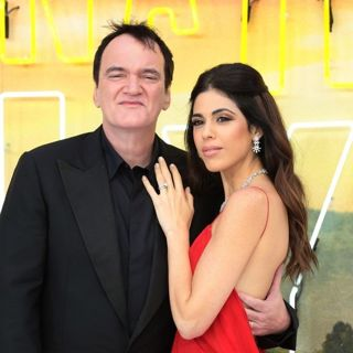 Quentin Tarantino, Daniella Pick in Once Upon a Time in Hollywood UK Premiere