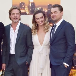 Quentin Tarantino, Brad Pitt, Margot Robbie, Leonardo DiCaprio in Once Upon a Time in Hollywood Premiere