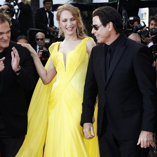 Quentin Tarantino, Uma Thurman, John Travolta, Kelly Preston in The 67th Annual Cannes Film Festival - Clouds of Sils Maria - Premiere Arrivals