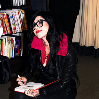 Kat Von D in Kat Von D Signs Copies of Her Book 'The Tattoo Chronicles'