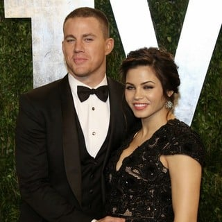 Channing Tatum, Jenna Dewan in 2013 Vanity Fair Oscar Party - Arrivals