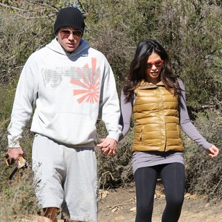 Channing Tatum, Jenna Dewan in Jenna Dewan and Channing Tatum Spend The Day Hiking with Their Dogs
