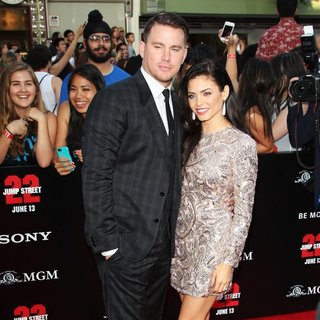 Channing Tatum, Jenna Dewan in Premiere of Columbia Pictures' 22 Jump Street