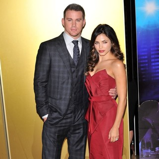 Channing Tatum, Jenna Dewan in Magic Mike UK Film Premiere
