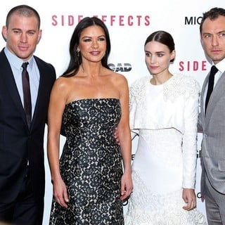 Channing Tatum, Catherine Zeta-Jones, Rooney Mara, Jude Law in New York Premiere of Side Effects