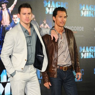 Channing Tatum, Matthew McConaughey in A Photocall to Promote Movie Magic Mike