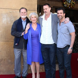 Taylor Hackford, Helen Mirren, Rio Hackford, Alexander Hackford in Helen Mirren Honored with A Star on The Hollywood Walk of Fame