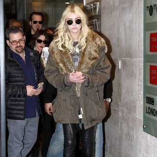 Taylor Momsen, The Pretty Reckless in Taylor Momsen Seen Leaving Radio 1