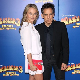 Christine Taylor, Ben Stiller in New York Premiere of Dreamworks Animation's Madagascar 3: Europe's Most Wanted