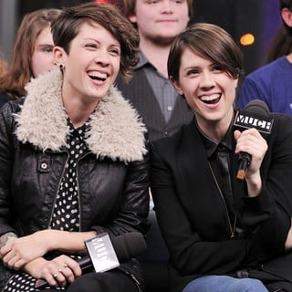 Tegan and Sara in Tegan and Sara Interview on Much Music's NEW.MUSIC.LIVE. Promoting Their Album Heartthrob