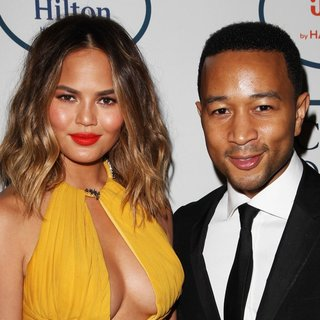 Chrissy Teigen, John Legend in 2014 Pre-Grammy Gala and Grammy Salute to Industry Icons - Clive Davis
