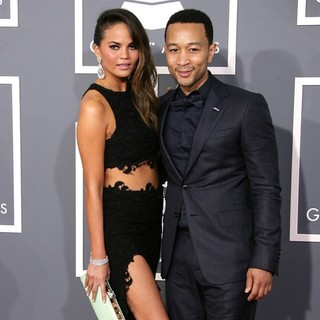 Chrissy Teigen, John Legend in 55th Annual GRAMMY Awards - Arrivals
