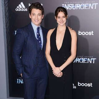 Miles Teller, Shailene Woodley in US Premiere of The Divergent Series: Insurgent - Red Carpet Arrivals