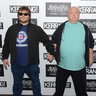 Jack Black, Kyle Gass, Tenacious D in Kerrang! Awards 2012 - Arrivals