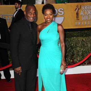 Julius Tennon, Viola Davis in 19th Annual Screen Actors Guild Awards - Arrivals
