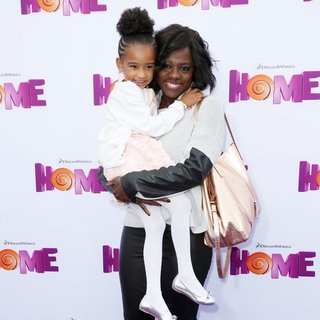 Genesis Tennon, Viola Davis in Los Angeles Premiere of Home Presented by 20th Century Fox and DreamWorks Animation