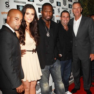 Jessy Terrero, Anabelle Acosta, 50 Cent, Randall Emmett, Steve Beeks in The Lionsgate Home Entertainment and Grindstone VIP Screening of Freelancers
