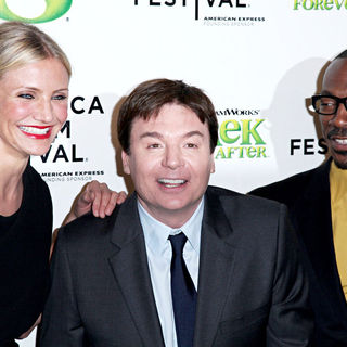 Cameron Diaz, Mike Myers, Eddie Murphy in Premiere of 'Shrek Forever After' during the 9th Annual Tribeca Film Festival - Arrivals