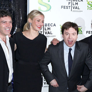 Antonio Banderas, Cameron Diaz, Mike Myers, Eddie Murphy in Premiere of 'Shrek Forever After' during the 9th Annual Tribeca Film Festival - Arrivals