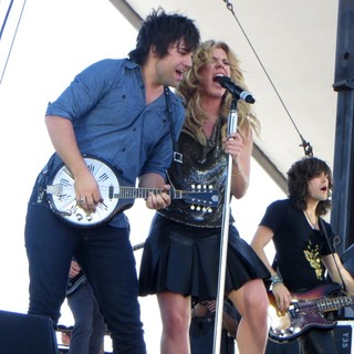 The Band Perry in iHeartRadio Music Festival Village