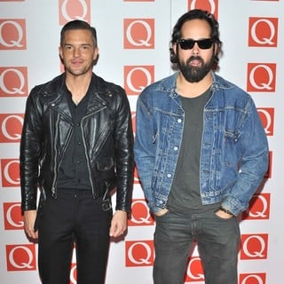 Brandon Flowers, Ronnie Vannucci Jr., The Killers in The Q Awards 2012 - Arrivals