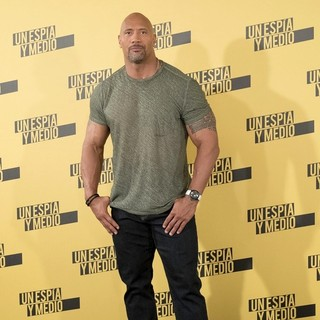 The Rock in Central Intelligence Madrid Photocall