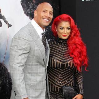 The Rock, Natalie Eva Marie in Los Angeles Premiere of San Andreas