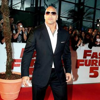 The Rock in The French Premiere of Fast Five