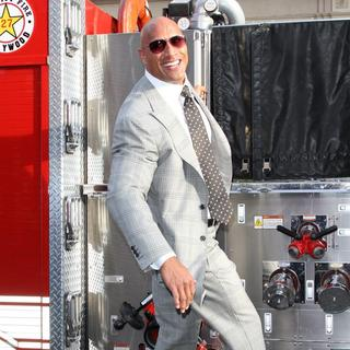 The Rock in Los Angeles Premiere of San Andreas