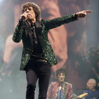 Mick Jagger, Ronnie Wood, Charlie Watts, The Rolling Stones in The 2013 Glastonbury Festival