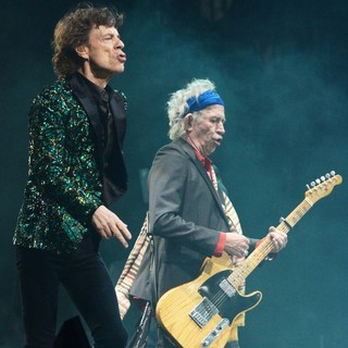 Mick Jagger, Keith Richards, The Rolling Stones in The 2013 Glastonbury Festival