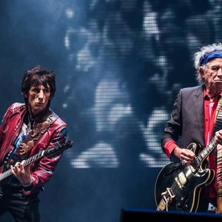 Ronnie Wood, Keith Richards, The Rolling Stones in The 2013 Glastonbury Festival