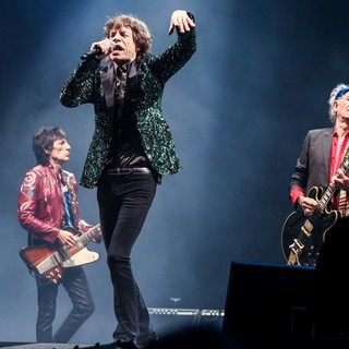 Ronnie Wood, Mick Jagger, Keith Richards, The Rolling Stones in The 2013 Glastonbury Festival