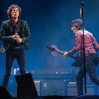 Mick Jagger, Ronnie Wood, The Rolling Stones in The 2013 Glastonbury Festival